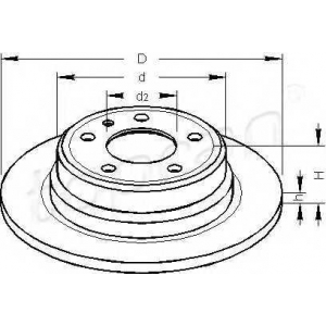 TOPRAN 501222 Brake disc