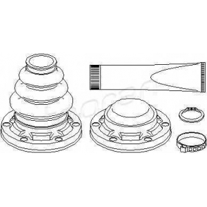 TOPRAN 501317 Half Shaft Boot Kit