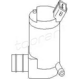 TOPRAN 720 281 Насос стеклоомывателя PSA ->98 73mm (1вых)