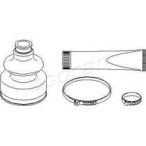 TOPRAN 720284 Half Shaft Boot Kit