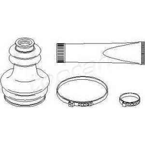 TOPRAN 720297 Half Shaft Boot Kit