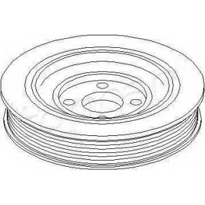 TOPRAN 721026 Belt pulley, crankshaft