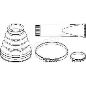 TOPRAN 721153 Half Shaft Boot Kit