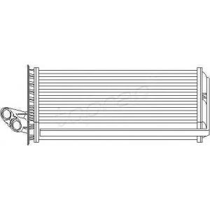 TOPRAN 721 422 Радіатор обігрівача салону Fiat Scudo