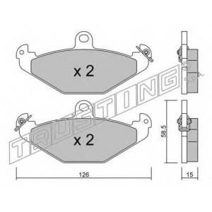 TRUSTING 168.0 Комплект тормозных колодок, дисковый тормоз Крайслер Випер