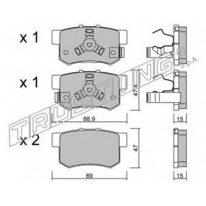 TRUSTING 176.1 Комплект тормозных колодок, дисковый тормоз