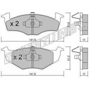 TRUSTING 2150 Комплект тормозных колодок, дисковый тормоз