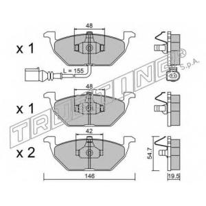 TRUSTING 2202 Комплект тормозных колодок, дисковый тормоз