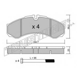 TRUSTING 2210 Комплект тормозных колодок, дисковый тормоз
