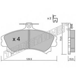 TRUSTING 2250 Комплект тормозных колодок, дисковый тормоз