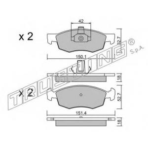 TRUSTING 283.2 Комплект тормозных колодок, дисковый тормоз