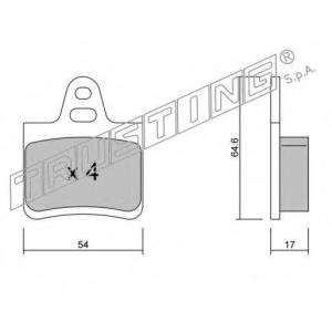 TRUSTING 293.0 Комплект тормозных колодок, дисковый тормоз Ситроен Cx