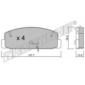 TRUSTING 3111 Колодки тормозные дисковые, комплект