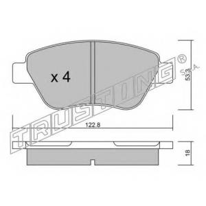 TRUSTING 330.1 Комплект тормозных колодок, дисковый тормоз