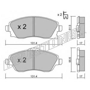TRUSTING 349.0 Комплект тормозных колодок, дисковый тормоз