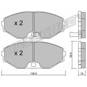 TRUSTING 420.0 Комплект тормозных колодок, дисковый тормоз