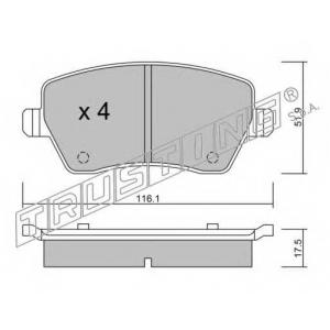 TRUSTING 501.0 Комплект тормозных колодок, дисковый тормоз
