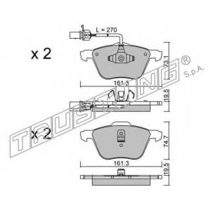 TRUSTING 567.0 Комплект тормозных колодок, дисковый тормоз Фиат Премио