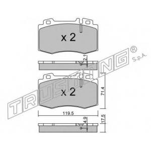 TRUSTING 579.5 Комплект тормозных колодок, дисковый тормоз