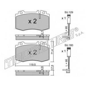 TRUSTING 579.5W Комплект тормозных колодок, дисковый тормоз