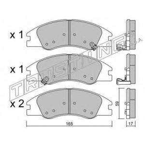 TRUSTING 646.0 Комплект тормозных колодок, дисковый тормоз
