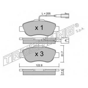 TRUSTING 654.1 Комплект тормозных колодок, дисковый тормоз