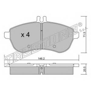 TRUSTING 681.0 Комплект тормозных колодок, дисковый тормоз