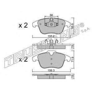 TRUSTING 691.4 Комплект тормозных колодок, дисковый тормоз