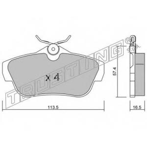 TRUSTING 728.0 Комплект тормозных колодок, дисковый тормоз