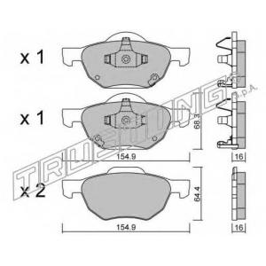 TRUSTING 746.0 Комплект тормозных колодок, дисковый тормоз