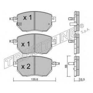 TRUSTING 757.0 Комплект тормозных колодок, дисковый тормоз