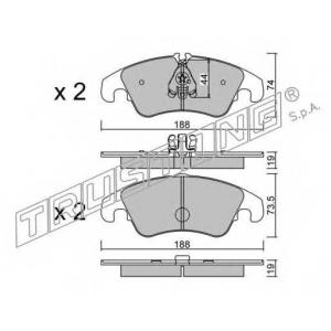 TRUSTING 7910 Комплект тормозных колодок, дисковый тормоз