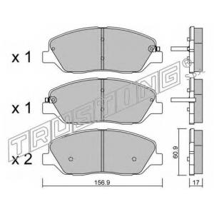 TRUSTING 803.0 Комплект тормозных колодок, дисковый тормоз