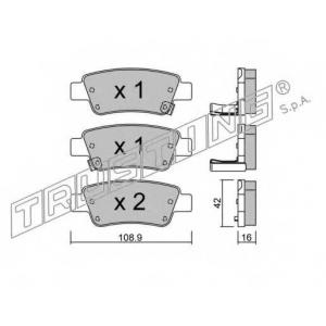 TRUSTING 806.0 Комплект тормозных колодок, дисковый тормоз