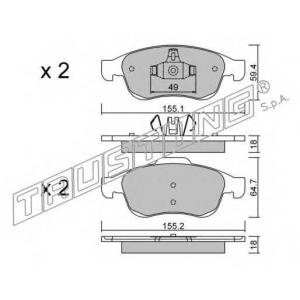 TRUSTING 833.0 Комплект тормозных колодок, дисковый тормоз