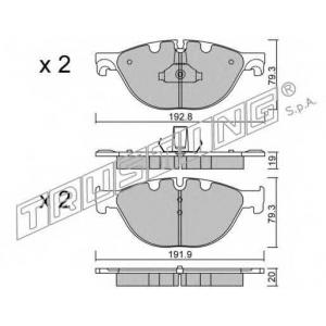 TRUSTING 847.0 Комплект тормозных колодок, дисковый тормоз
