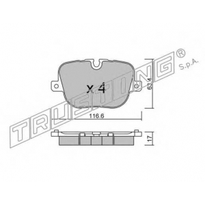 TRUSTING 854.0 Комплект тормозных колодок, дисковый тормоз
