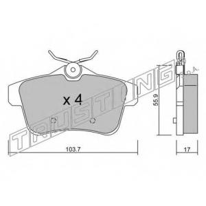 TRUSTING 872.0 Комплект тормозных колодок, дисковый тормоз