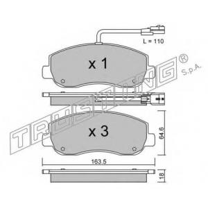 TRUSTING 915.0 Комплект тормозных колодок, дисковый тормоз