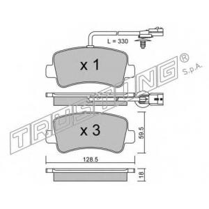 TRUSTING 916.0 Комплект тормозных колодок, дисковый тормоз