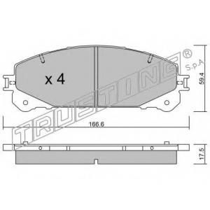 TRUSTING 954.0 Тормозные колодки (дисков. тормоз) Front