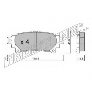 TRUSTING 955.0 Комплект тормозных колодок, дисковый тормоз
