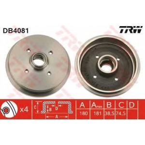 TRW DB4081 Барабан торм. AUDI, SEAT, VW задн. (пр-во TRW)