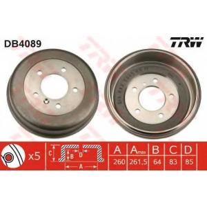 TRW DB4089 Барабаны задние торм МВ307-310