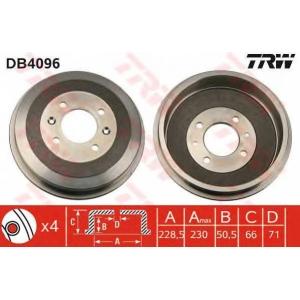 TRW DB4096 Тормозной барабан