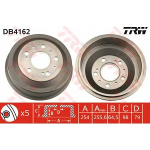 TRW DB4162 Тормозной барабан