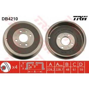 TRW DB4210 Тормозной барабан