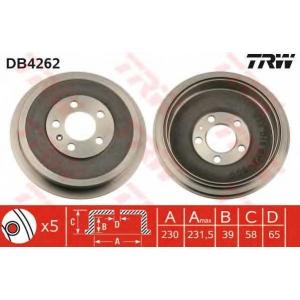 TRW DB4262 DB4262  TRW - Гальмівний барабан