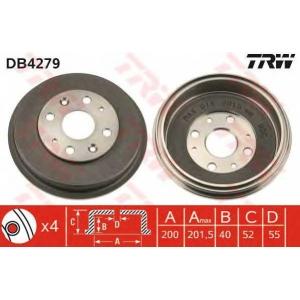 TRW DB4279 Тормозной барабан