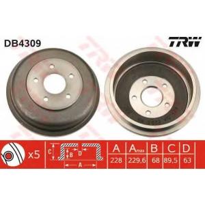 TRW DB4309 Тормозной барабан